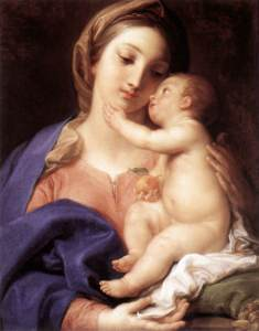 WHOLE ANGEL - WHOLE HARMONY : MADONNA  AND  CHILD  BY  POMPEO  BATONI .  FINDING  PERFECTION  IN  ART,  FOOD,  AND  LIFE  BY  HARMONIOUS  BLENDING  OF  IDEAS,  VALUES,  AND  KNOWLEDGE .