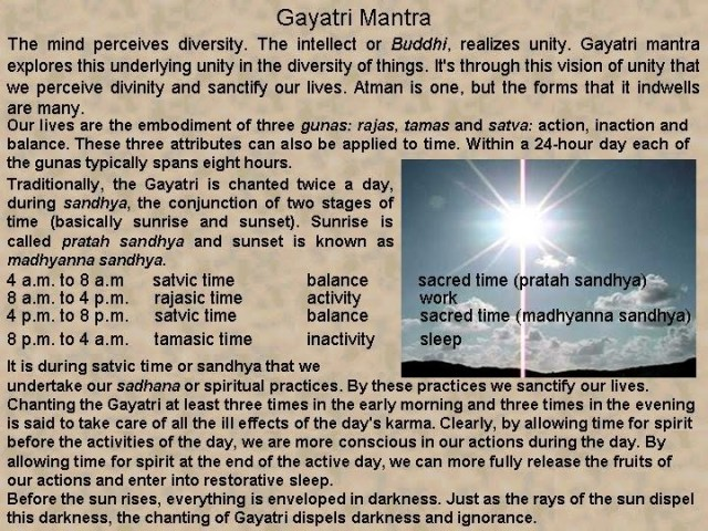 bharat darshan gayatri time for meditation