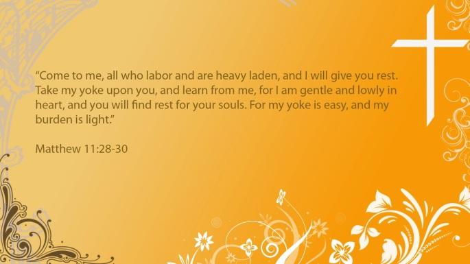 Bible Verse Wallpaper Creations: Matthew 11:28-30