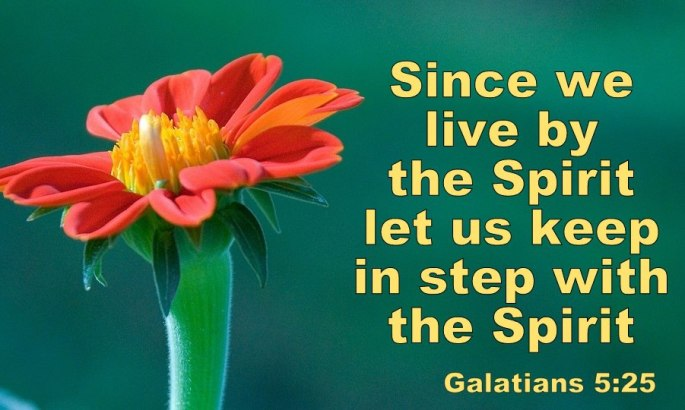 #25For25 NEW BEGINNING, FROM NATURAL TO SPIRITUAL ORDER OF EXISTENCE, LIFE BY THE SPIRIT, LIVE BY THE SPIRIT. GALATIANS 5:25.