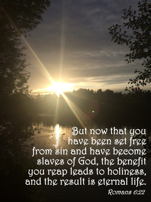 #25For25 NEW BEGINNING, NEW CREATION, LIVING SACRIFICE. FEEDOM FROM SIN AND SLAVERY TO GOD. ROMANS, 6:22.