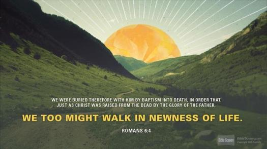 #25For25 NEW BEGINNING, NEW CREATION, NEW ORDER, FROM NATURAL TO SPIRITUAL EXISTENCE. WE TOO MAY LIVE A NEW LIFE. ROMANS, 6:4.