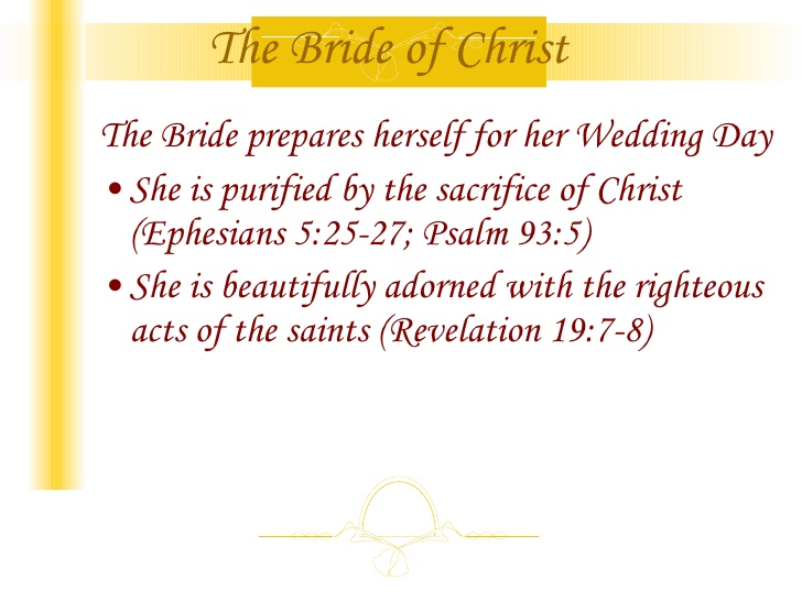 THE WEDDING OF THE LAMB - DISCOVERY OF VIRGIN BRIDE.