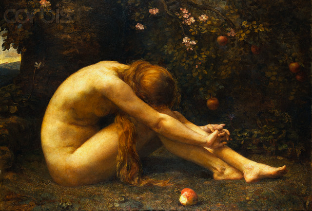 Discovery of Eve - Bride of Christ. Who is Eve? The word 'EVE' or 'HEVA' from Hebrew 'HAWWAH' means life, or living being. Eve in the Garden of Eden by Anna Lea Merritt --- Image by © Fine Art Photographic Library/Corbis