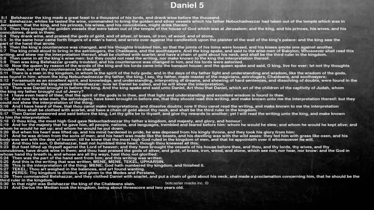Doomed American Fantasy - The Writing On The Wall. Book of Daniel, Chapter 5.